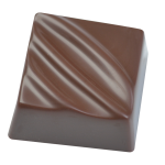 Square praline with design
