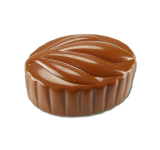 Oval praline with leaf