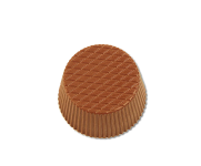Round praline with lines