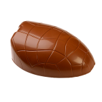 Standing egg (mould half), lower part, crocodile style, with indentation for ribbon