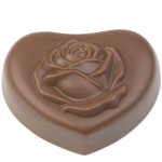 Heart praline with rose