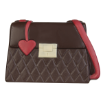 Ladies` handbag with heart