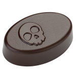 Bonbon ovale Halloween 'Crâne'