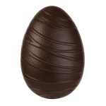 Egg half with stripes