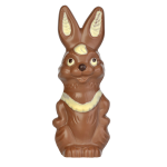 Standing rabbit with bib