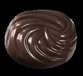 Oval-Praline gespritzt
