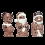 Snowman, Reindeer, Santa