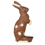 Sitting rabbit with basket