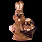 Rabbit with wheelbarrow