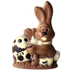 Rabbit with brush and egg