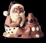 Weihnachtsmann mit Sandburg