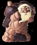 Weihnachtsmann mit Inlineskates und Handy