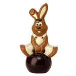 Rabbit on hopping ball