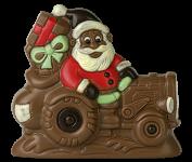 Santa Claus on tractor