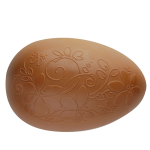Egg with Hippie Design