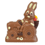 Rabbit on tractor