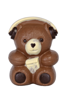 Bear with headphones