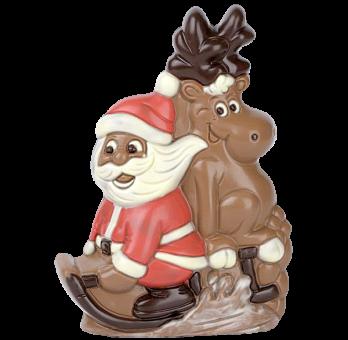 Weihnachtsmann mit Elch
