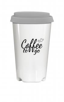 Coffee to go Becher (weiß), ca. 0,3 l