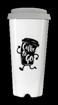 Coffee to go Becher (weiß), ca. 0,4 l