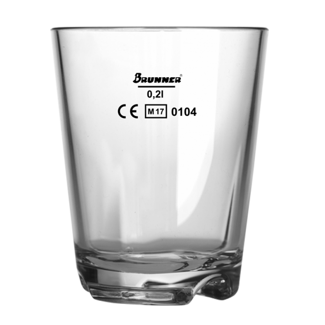 Drinking cup, 0,2 ltr with measuring line