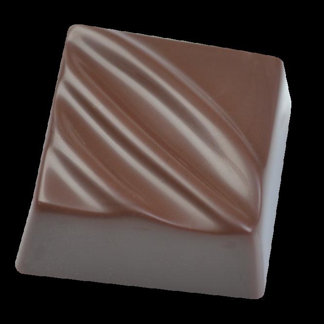 Viereck-Praline mit Dekor