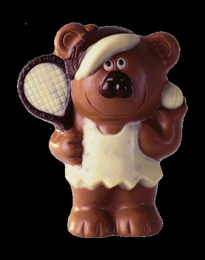 Bär mit Tennisschläger