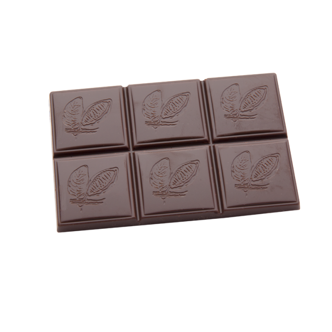 Täfelchen mit Kakaoschote