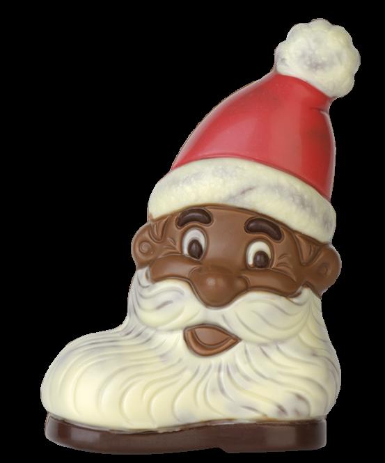 Stiefel mit Weihnachtsmanngesicht