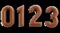 Ziffern / Zahlen 0-9