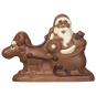Santa claus with elk and sleigh