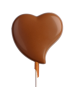 Lolly bended heart
