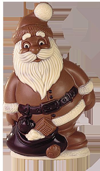 brunner schokoladenformen  weihnachtsmann mit sack