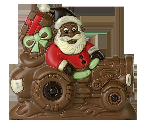 brunner schokoladenformen weihnachtsmann auf traktor. Black Bedroom Furniture Sets. Home Design Ideas